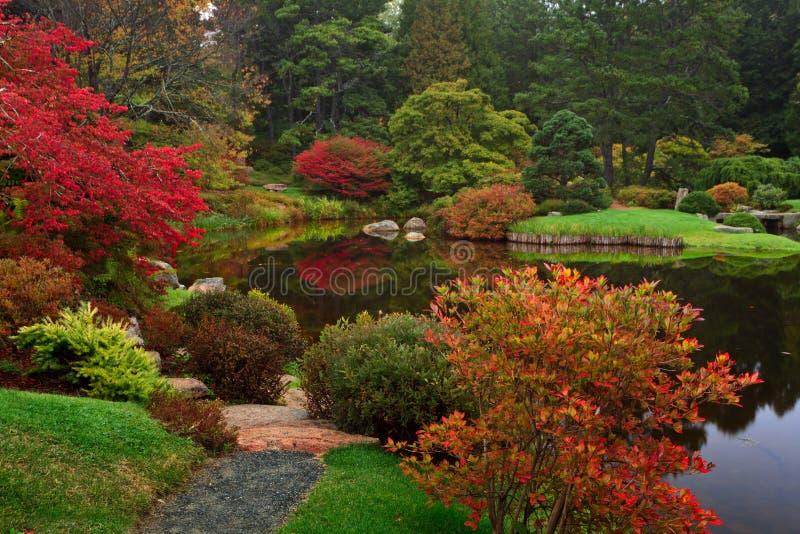 Jardín de la azalea de Asticou imagen de archivo libre de regalías