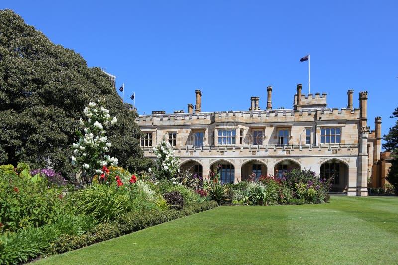 Jardín de la casa del gobierno en Sydney foto de archivo