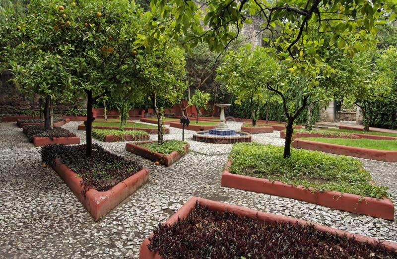 Jardín de la hacienda imagenes de archivo