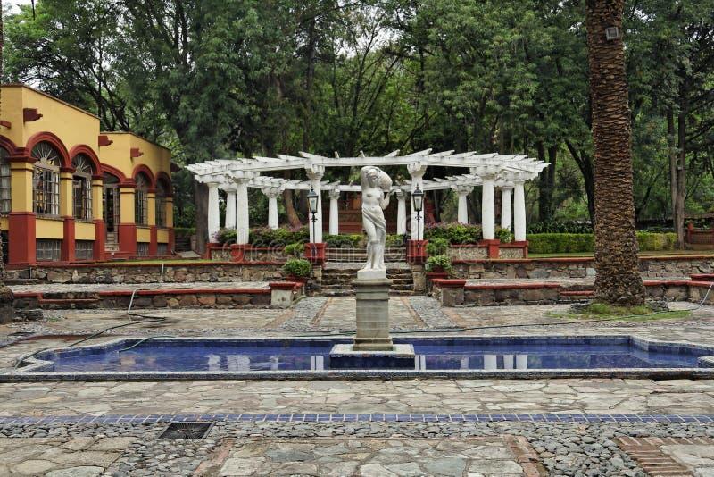 Jardín de la hacienda imagen de archivo