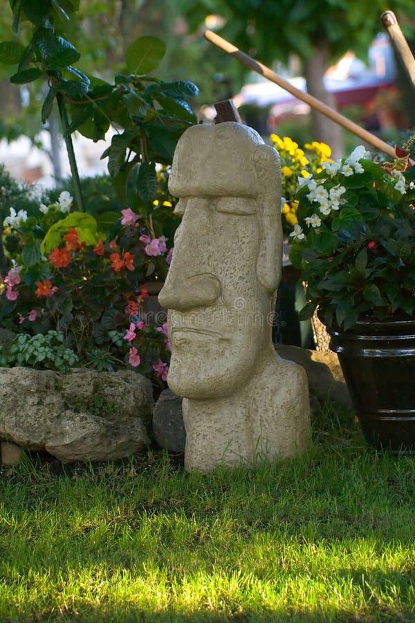 Jardín de la isla de pascua fotos de archivo libres de regalías