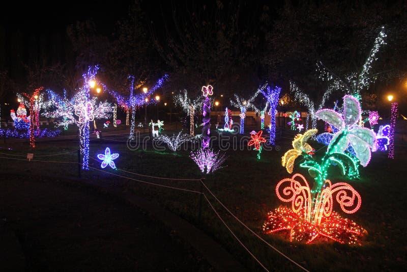 Jardín de la Navidad de Baronissi foto de archivo libre de regalías
