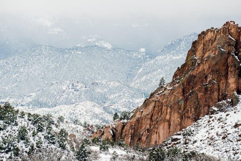 Jardín de la nieve del invierno de dioses fotografía de archivo