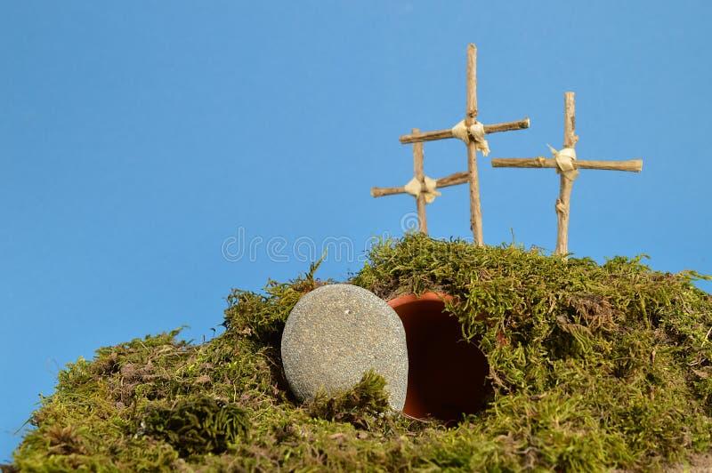 """Jardín de la resurrección del †de la decoración de Pascua """" fotos de archivo"""