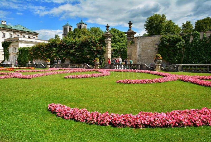Jardín de Mirabell en Salzburg, Austria imagen de archivo