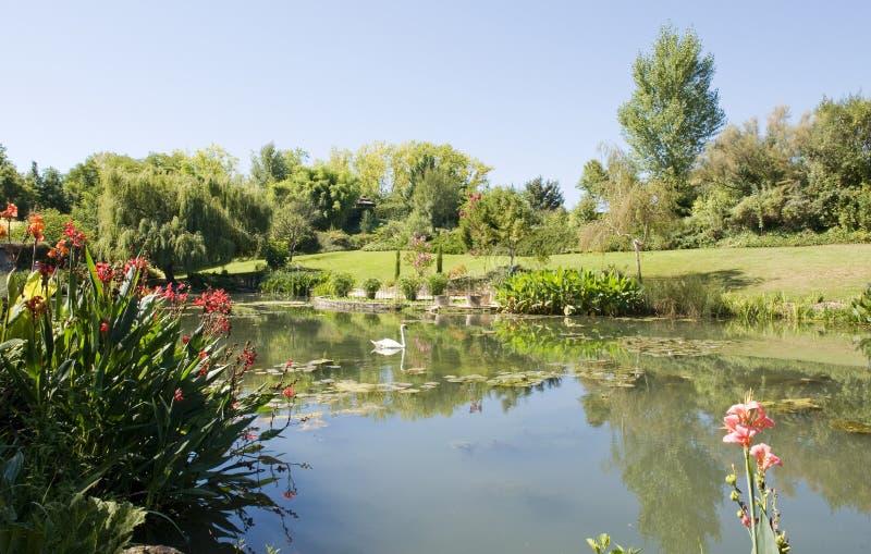 Jardín de Monets y charca del lirio fotos de archivo libres de regalías