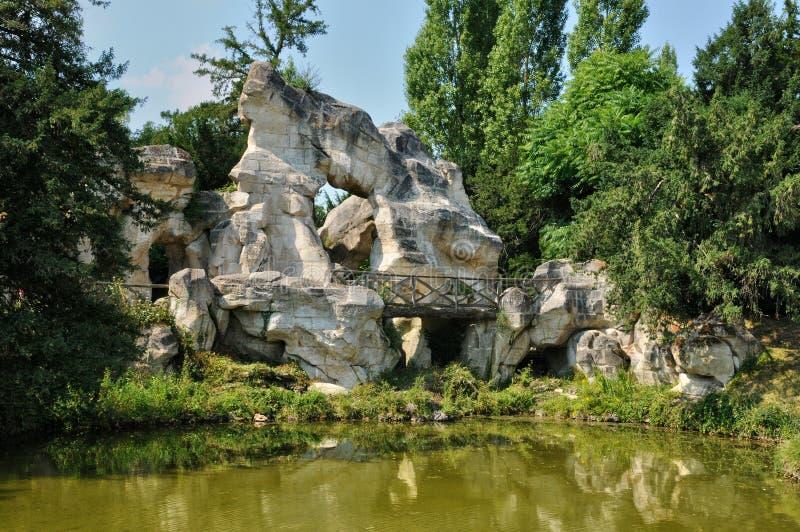Jardín de Petit Trianon en el estado de Marie Antoinette foto de archivo