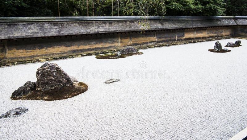 Jardín de piedras del templo de Ry?an-ji fotos de archivo libres de regalías