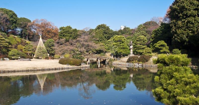 Jardín de Rikugien, Tokio, Japón foto de archivo libre de regalías