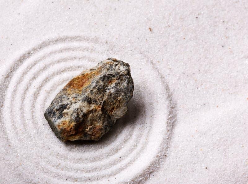 Jardín de roca del zen fotografía de archivo libre de regalías