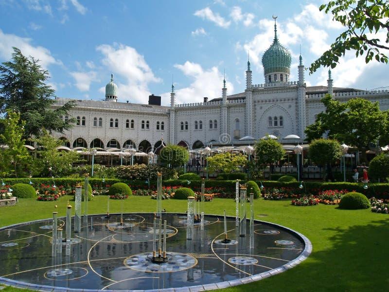 Jardín de Tivoli en Copenhague, foto de archivo libre de regalías