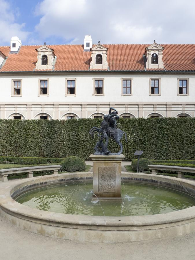 Jardín de Wallenstein, Praga fotografía de archivo libre de regalías