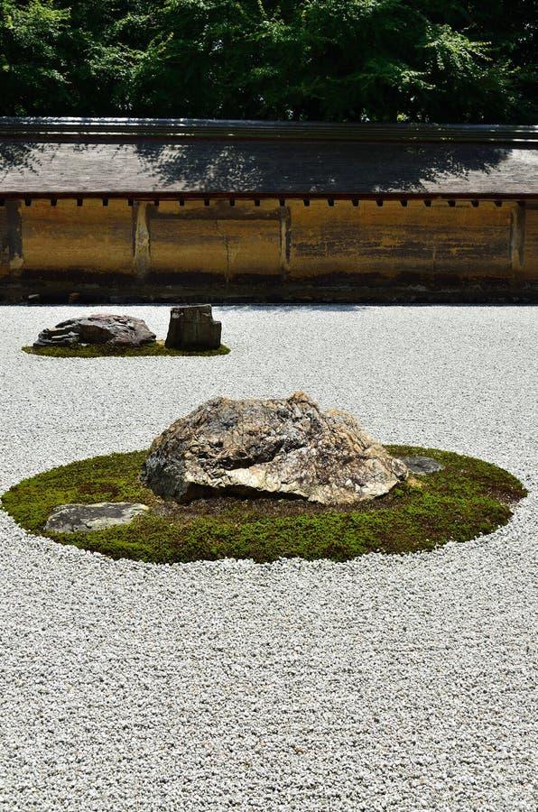 Jardín de Zen Rock del japonés, Kyoto foto de archivo libre de regalías