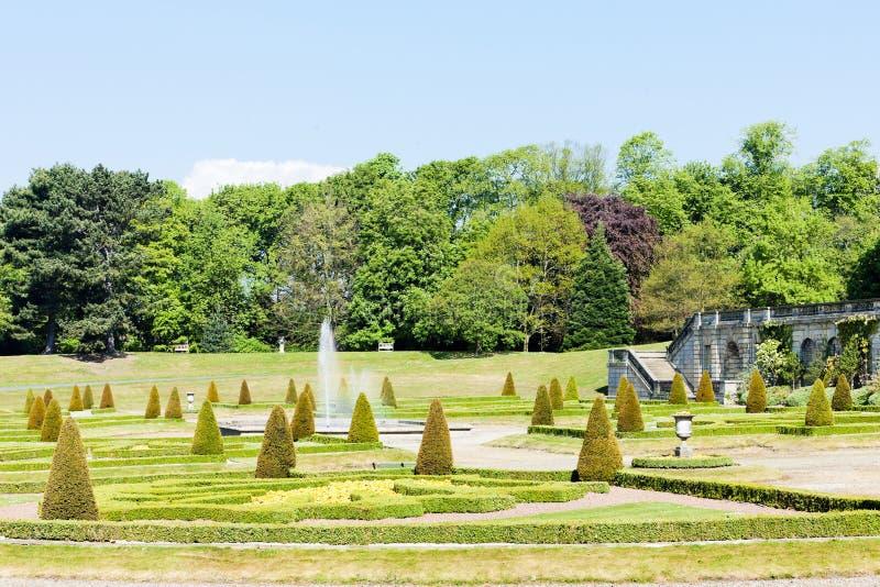 Jardín del castillo de Barnard imagen de archivo libre de regalías