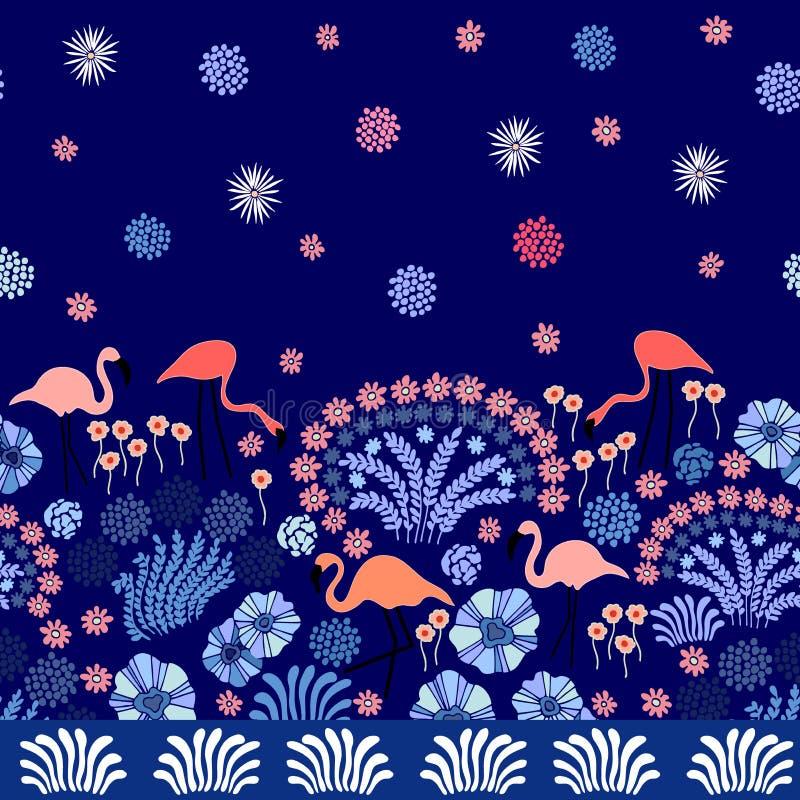Jardín del japonés de la noche libre illustration