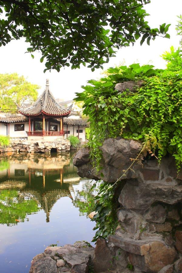 Jardín del pescador en Suzhou, China imagen de archivo