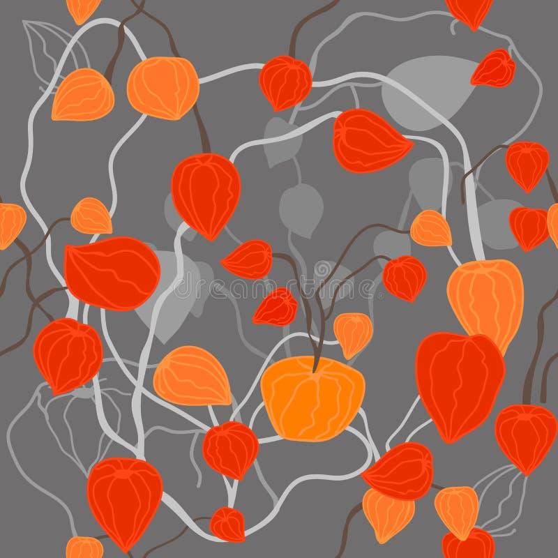 Jard?n del Physalis Impresi?n floral de moda ilustración del vector