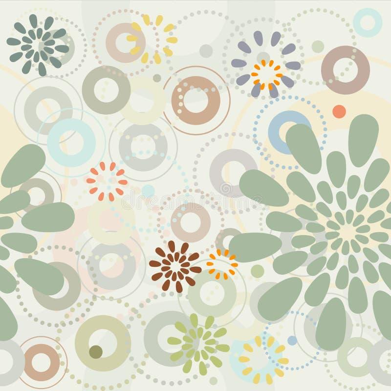 Jardín del resorte Flores abstractas - modelo inconsútil libre illustration