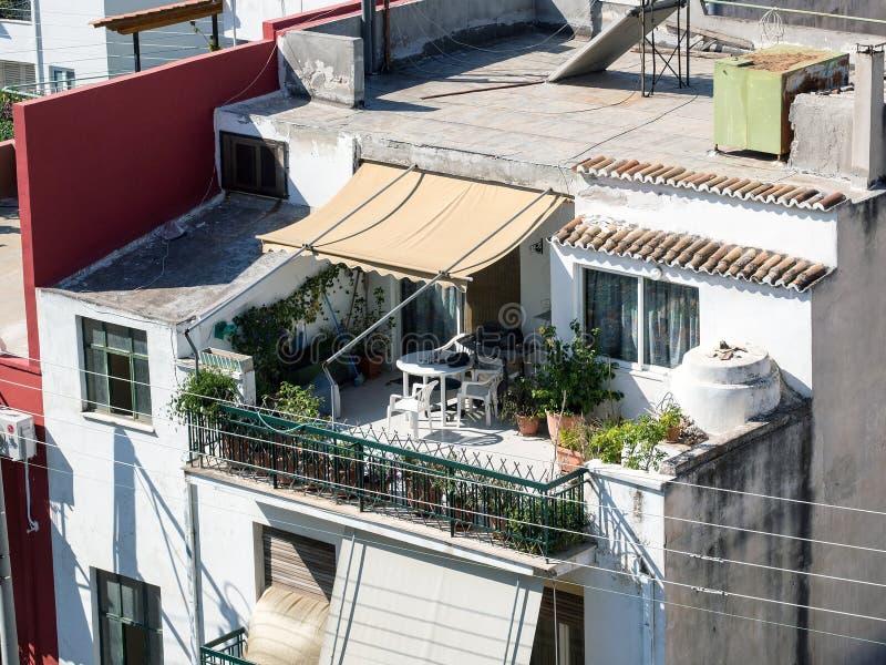 Jardín del tejado, Atenas foto de archivo