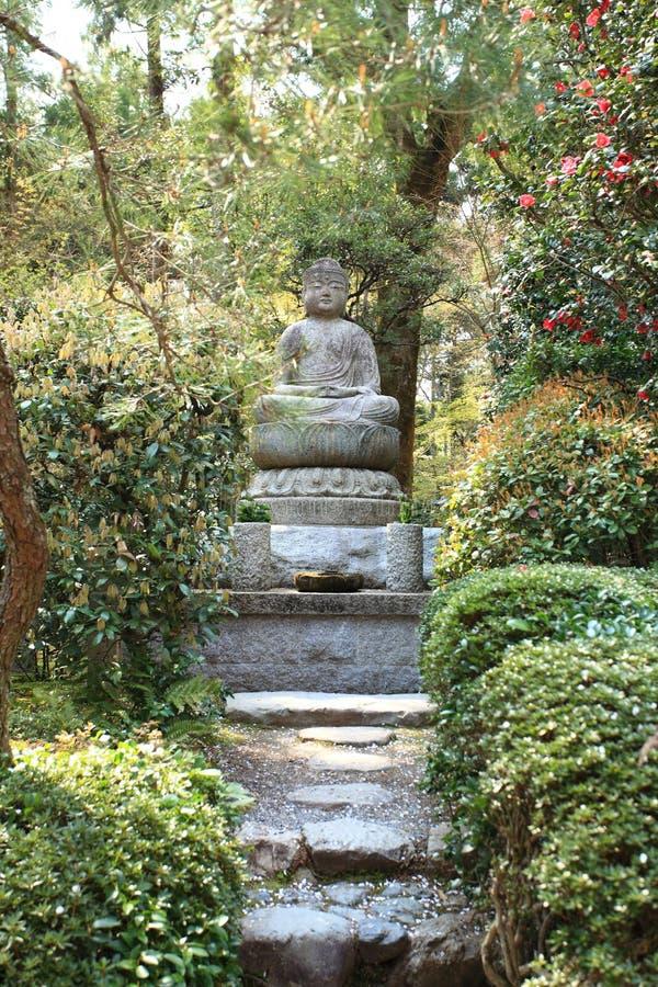 Jardín del templo de Ryoan-ji, Kyoto, Japón fotos de archivo