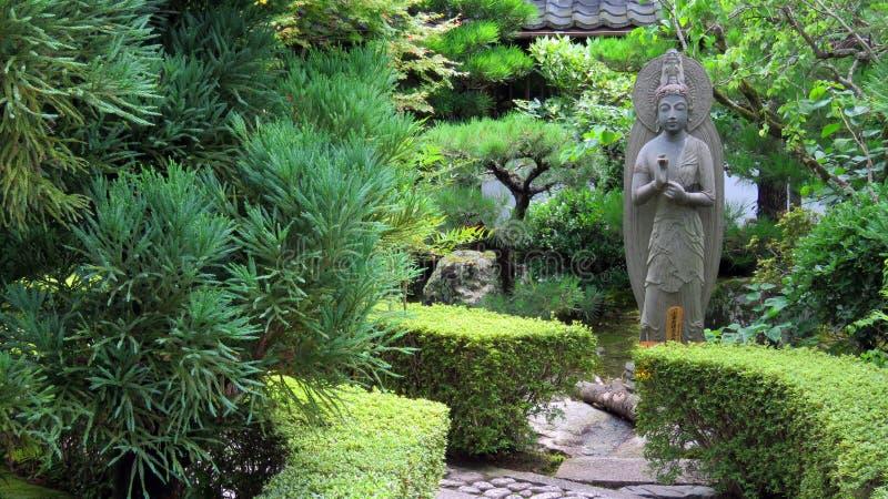 Jardín del templo de Ryoanji en Kyoto imagenes de archivo