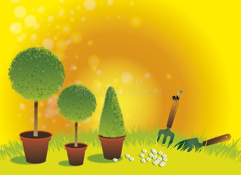 Jardín del Topiary del verano libre illustration
