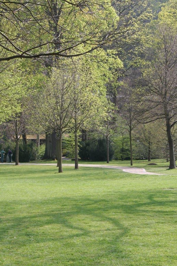 Jardín en el castillo imagen de archivo libre de regalías