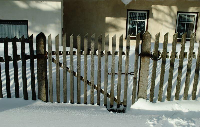Jardín en el invierno foto de archivo libre de regalías
