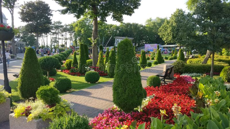Jardín en Polonia foto de archivo