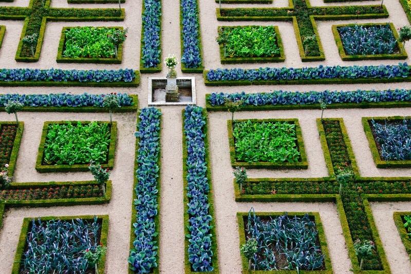 Jardín formal - Loire Valley - Francia fotografía de archivo libre de regalías