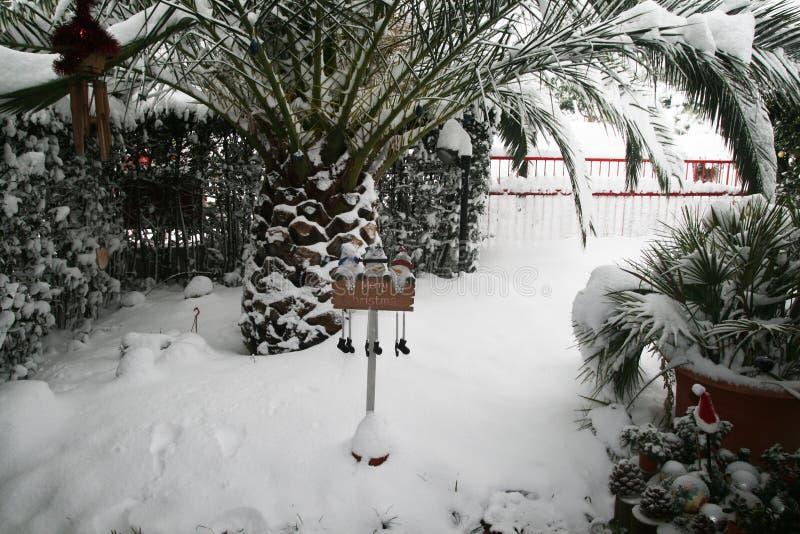 Jardín frío imagen de archivo