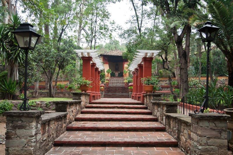 Jardín Guanajuato de la hacienda foto de archivo