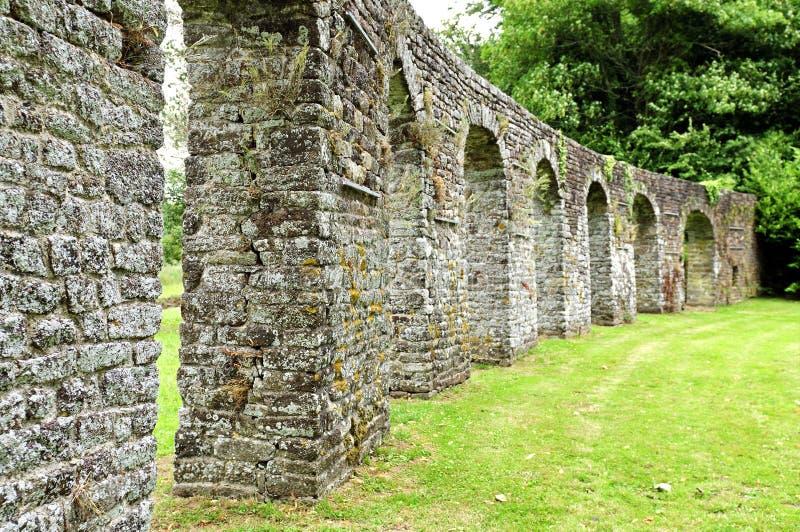 Jardín histórico de la abadía en lucerne imagenes de archivo
