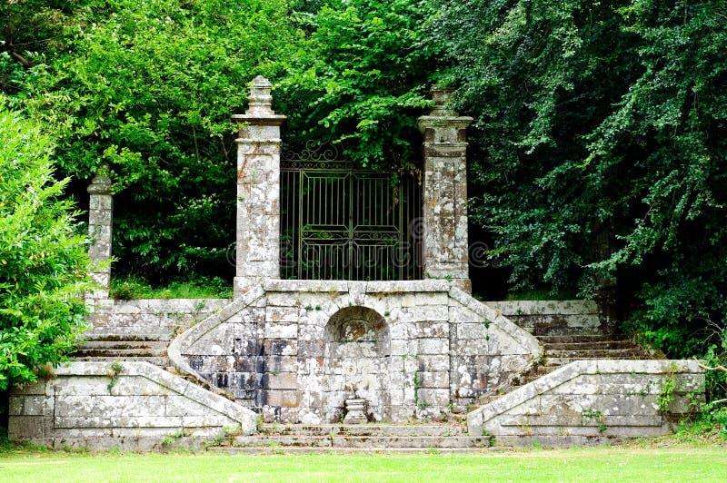 Jardín histórico de la abadía en lucerne fotos de archivo libres de regalías
