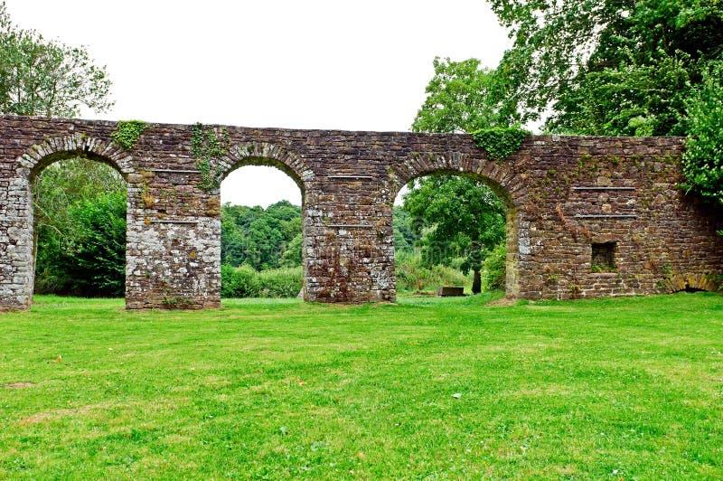 Jardín histórico de la abadía en lucerne fotografía de archivo libre de regalías