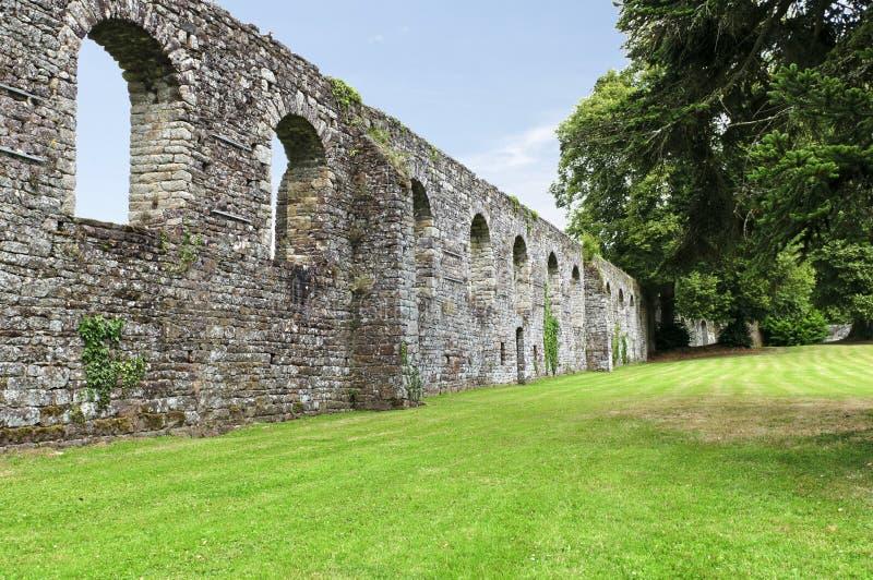 Jardín histórico de la abadía en lucerne fotografía de archivo