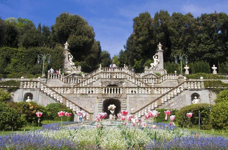Jardín histórico Garzoni Collodi fotografía de archivo libre de regalías