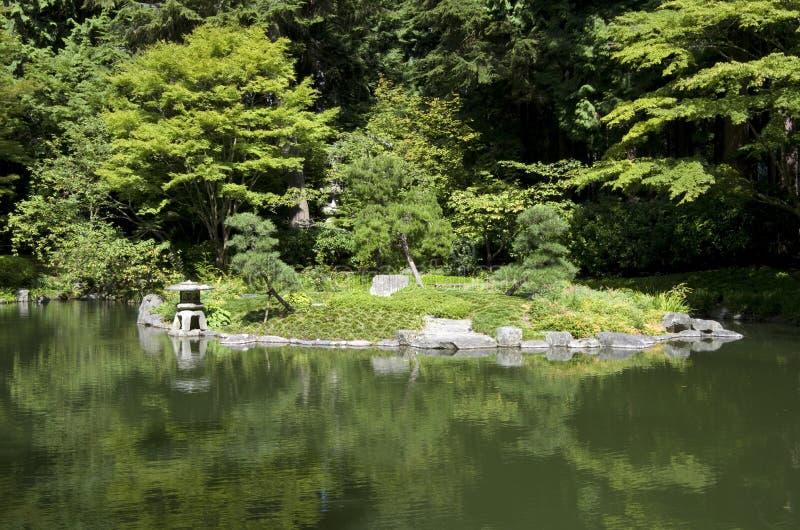 Jardín japonés foto de archivo