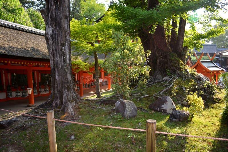 Jardín japonés de la capilla sintoísta imágenes de archivo libres de regalías