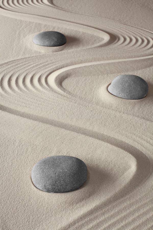 Jardín japonés de la meditación del zen fotografía de archivo libre de regalías