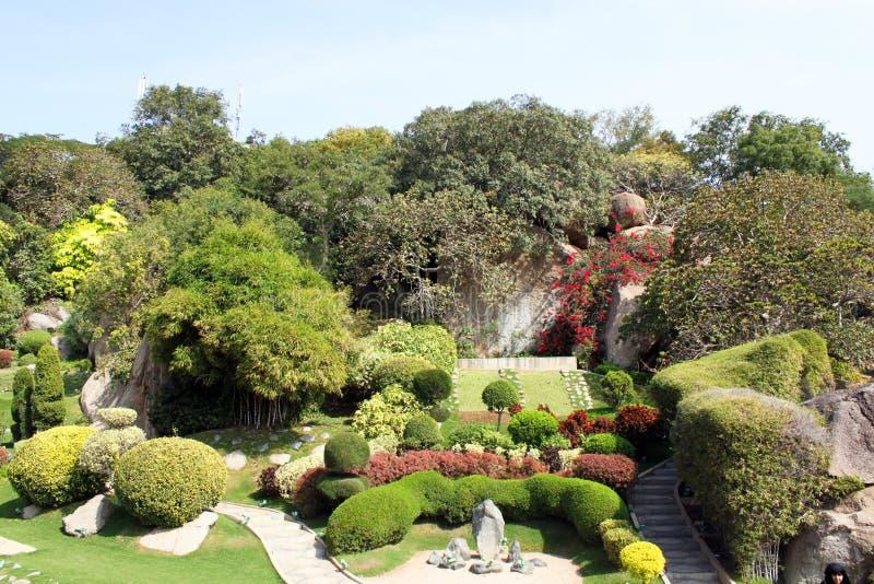Jardín japonés en ciudad de la película de Ramoji foto de archivo