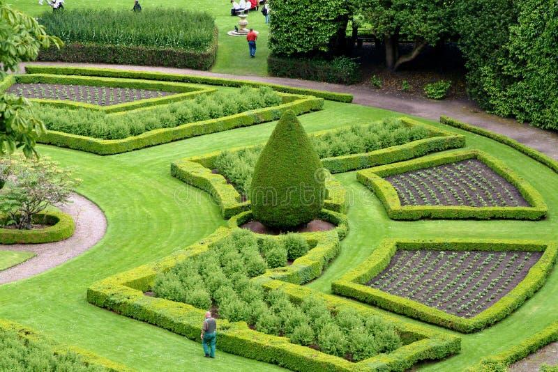 Jardín ornamental, Escocia imagen de archivo libre de regalías