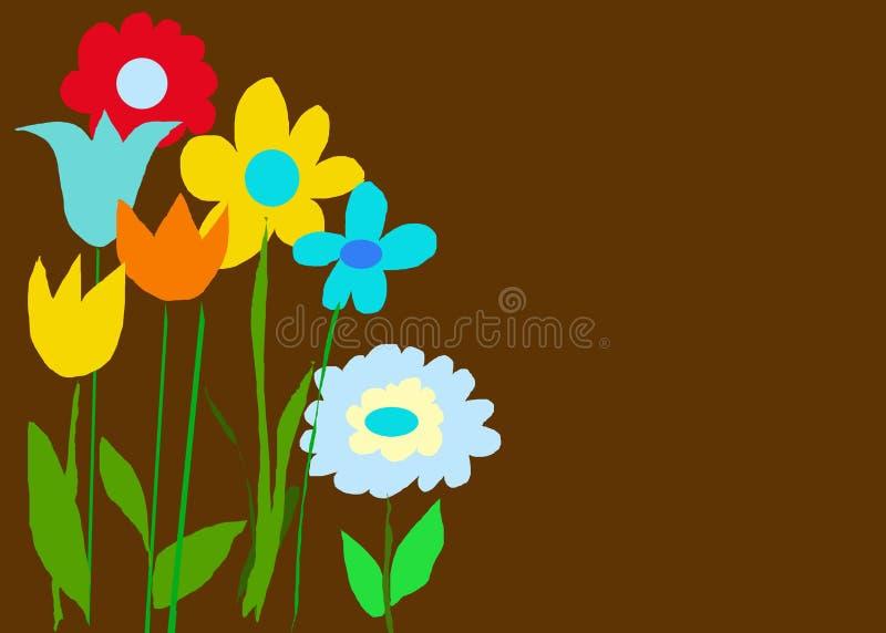 Jardín oscuro del color del chocolate ilustración del vector