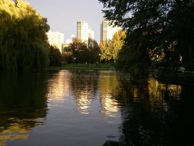 Jardín público común de Boston imágenes de archivo libres de regalías