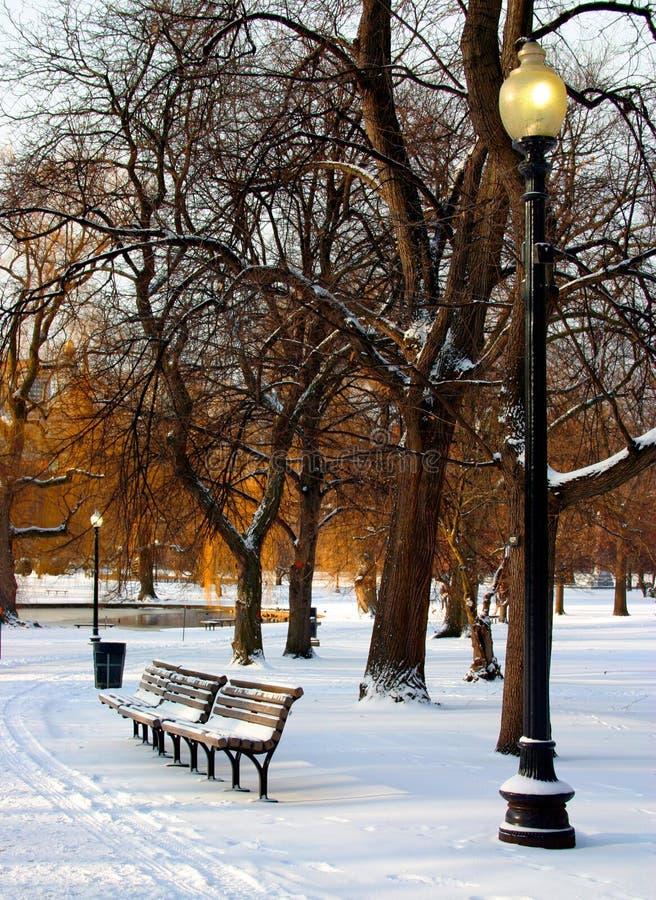 Download Jardín público de Boston imagen de archivo. Imagen de congelado - 1289779