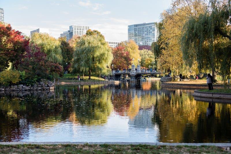 Jardín público de Boston fotos de archivo libres de regalías