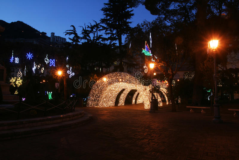 Jardín público de Salerno imagenes de archivo
