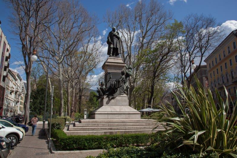 Jardín público en Trieste imagen de archivo