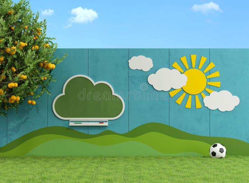 Jardín para los niños ilustración del vector