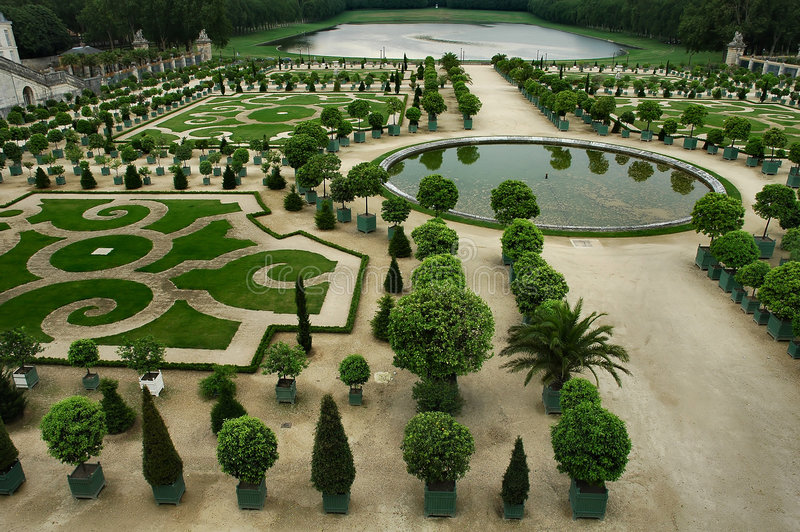 Jardín real imagenes de archivo